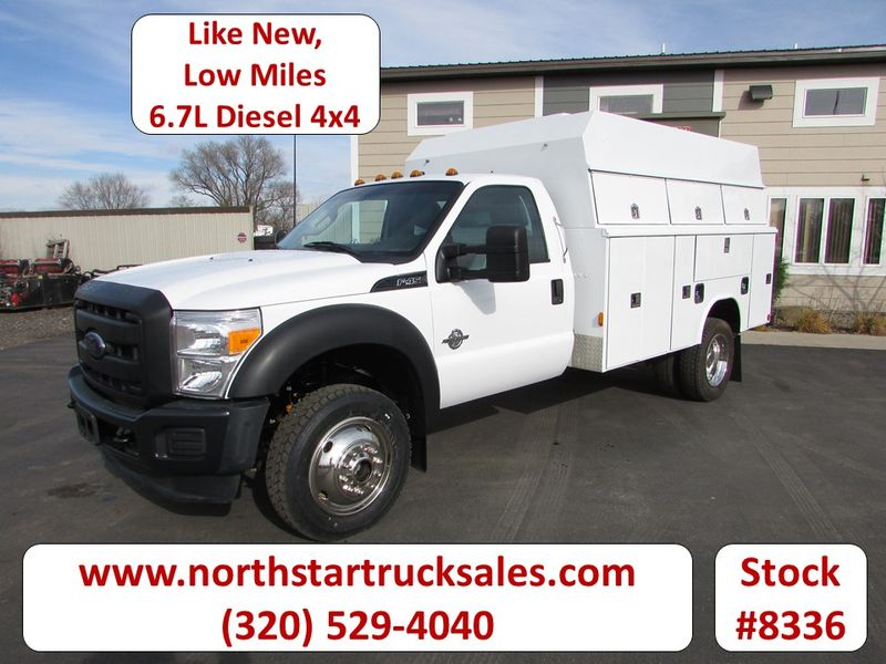 Photo Used 2014 Ford F-450 6.7 4x4 Service Utility Truck