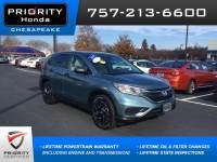 Certified 2016 Honda CR-V SE FWD SUV in Chesapeake, VA