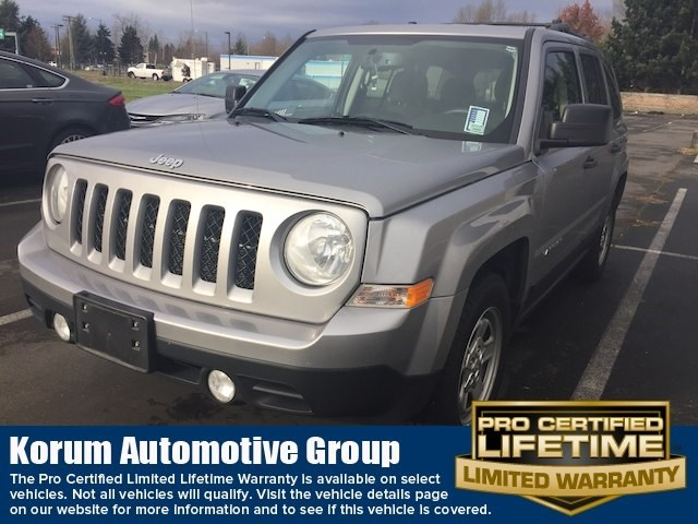 Photo Used 2016 Jeep Patriot Sport SUV I4 DOHC 16V Dual VVT for Sale in Puyallup near Tacoma