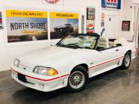 1987 Ford Mustang -GT CONVERTIBLE TRIPLE WHITE ONLY 17k MILES-VIDEO