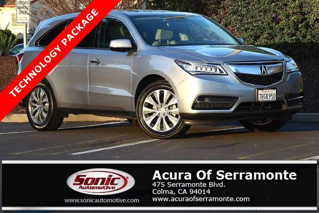 Photo Used 2016 Acura MDX MDX with Technology Package For Sale in Colma CA  Stock BGB015790  San Francisco Bay Area