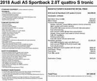 Used 2018 Audi A5 2.0T Premium Sportback in Pittsburgh