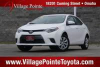 2016 Toyota Corolla LE Sedan FWD for sale in Omaha
