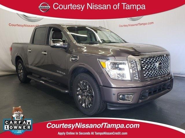 Photo Certified 2017 Nissan Titan Platinum Reserve Truck Crew Cab in Jacksonville FL