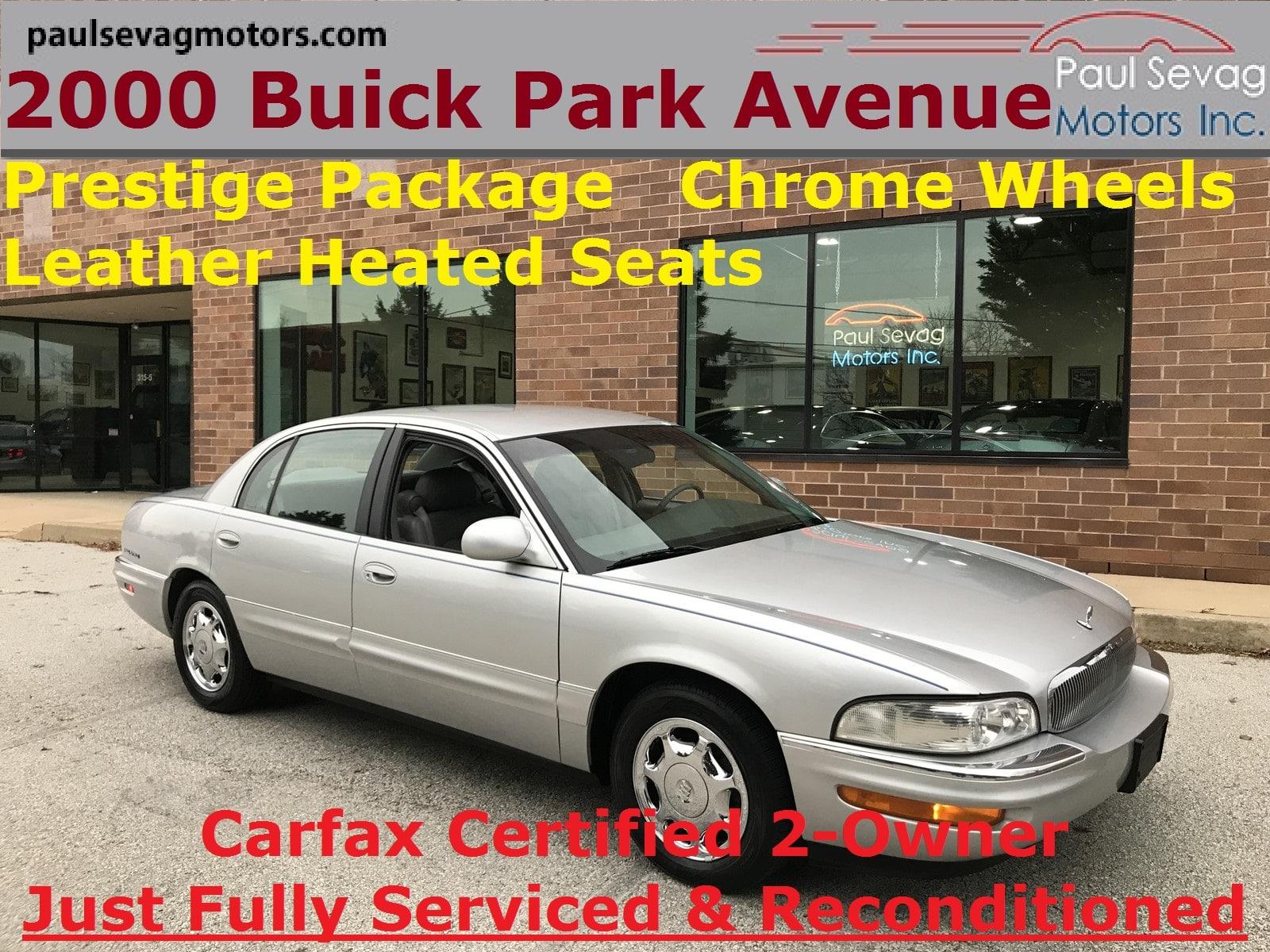Photo Used 2000 Buick Park Avenue For Sale at Paul Sevag Motors, Inc.  VIN 1G4CW52K8Y4131300