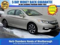 Certified Pre-Owned 2016 Honda Accord EX-L Sedan near Westborough, MA