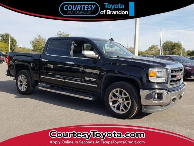 Photo Pre-Owned 2015 GMC Sierra 1500 SLT Crew Cab Value Package Truck Crew Cab near Tampa FL