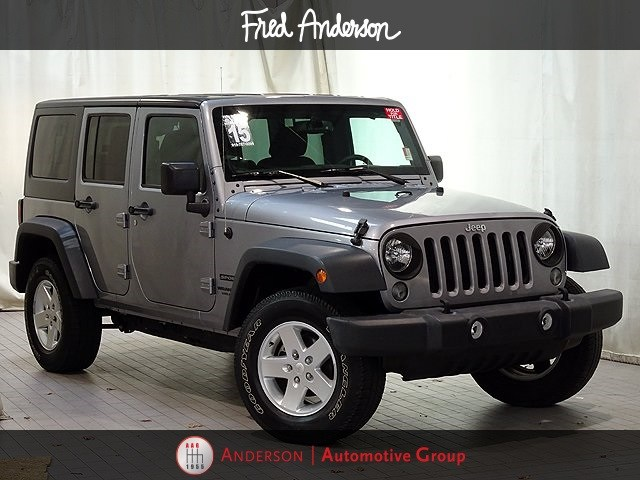 Photo Pre-Owned 2015 Jeep Wrangler Unlimited Unlimited Sport SUV For Sale in Raleigh NC