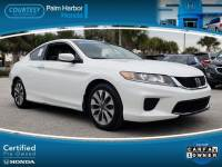 Certified 2015 Honda Accord LX-S Coupe in Jacksonville FL