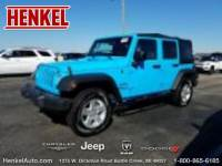 PRE-OWNED 2017 JEEP WRANGLER UNLIMITED SPORT 4X4 4WD