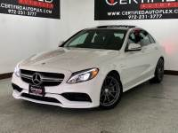 2017 Mercedes-Benz C63 AMG NAVIGATION PANORAMIC ROOF BLIND SPOT ASSIST ATTENTION ASSIST