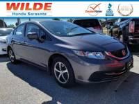 Certified Pre-Owned 2015 Honda Civic SE 4dr Car