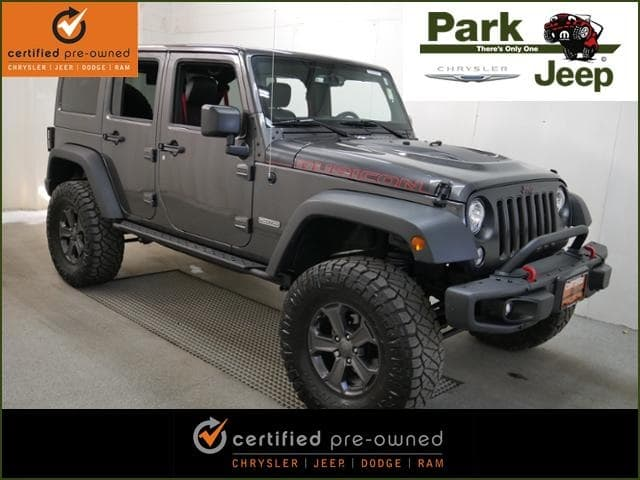 Photo Used 2018 Jeep Wrangler JK Unlimited Rubicon Recon 4x4 2 AEV Lift  35 Tires SUV in Burnsville, MN.