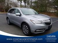 Certified 2016 Acura MDX MDX SH-AWD with Technology Package in Richmond VA
