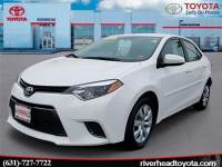 Used 2016 Toyota Corolla LE Sedan Front-wheel Drive for Sale in Riverhead, NY