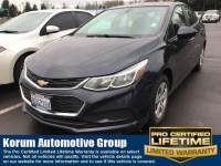 Used 2016 Chevrolet Cruze LS Sedan 4-Cylinder Turbo DOHC CVVT for Sale in Puyallup near Tacoma