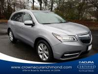 Certified 2016 Acura MDX MDX SH-AWD with Advance Package in Richmond VA