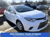 Used 2016 Toyota Corolla LE Car Front-wheel Drive in Auburn, MA