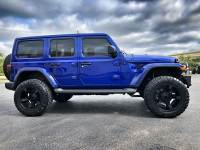 Used 2018 Jeep All-New Wrangler Unlimited OCEAN BLUE JL SAHARA LIFTED LEATHER HARDTOP