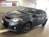 Certified Pre-Owned 2014 Toyota Corolla S Plus Sedan in Oakland, CA