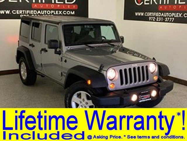 Photo 2016 Jeep Wrangler Unlimited UNLIMITED SPORT HARD TOP LIFT PACKAGE 20 WHEELS AND MUD TIRES 4WD TRAIL RA