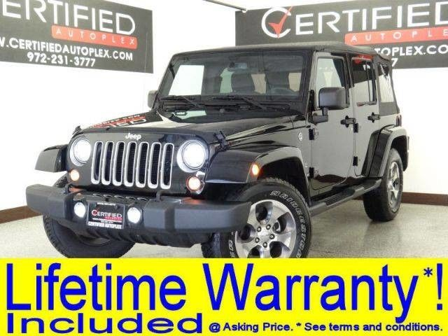 Photo 2018 Jeep Wrangler JK Unlimited UNLIMITED SAHARA 4WD LIFT PACKAGE 20 WHEELS AND MUD TIRES CONVERTIBLE H