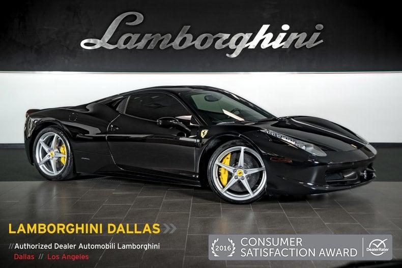 Photo Used 2011 Ferrari 458 For Sale Richardson,TX  Stock LT0952 VIN ZFF67NFA6B0177000