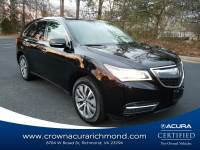 Certified 2016 Acura MDX MDX with Technology Package in Richmond VA