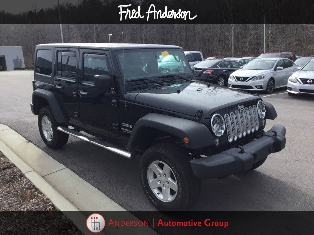 Photo Pre-Owned 2016 Jeep Wrangler JK Unlimited Unlimited Sport SUV For Sale in Raleigh NC
