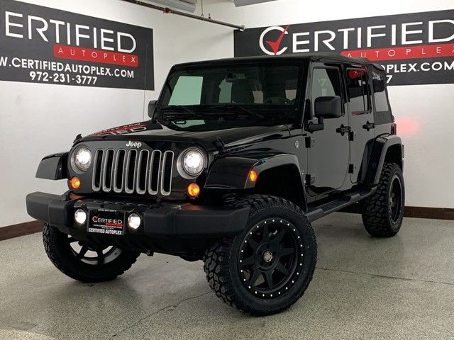 Photo 2018 Jeep Wrangler JK Unlimited UNLIMITED SAHARA 4WD LIFT PACKAGE 20 WHEELS AND MUD TIRES C