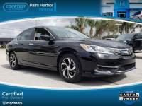 Certified 2016 Honda Accord LX Sedan in Tampa FL