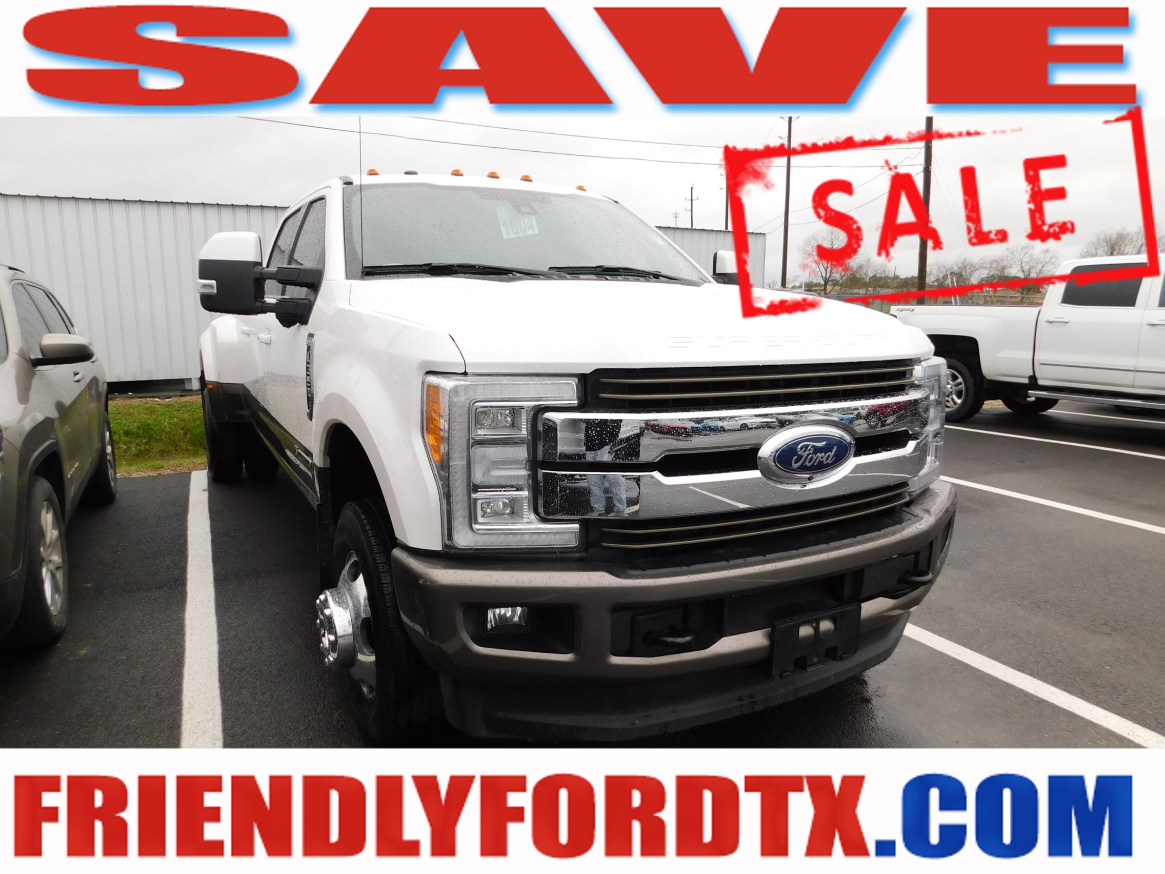 Photo Used 2018 Ford F-350SD King Ranch Truck Power Stroke V8 DI 32V OHV Turbodiesel for Sale in Crosby near Houston