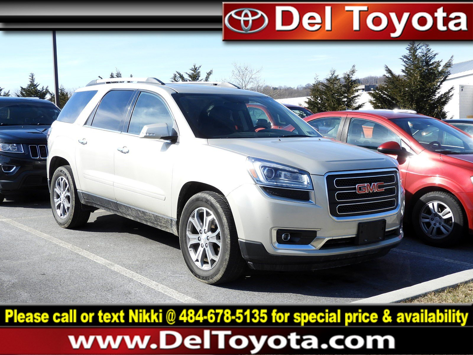 Photo Used 2013 GMC Acadia SLT For Sale in Thorndale, PA  Near West Chester, Malvern, Coatesville,  Downingtown, PA  VIN 1GKKVRKDXDJ208082