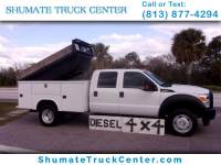 2011 Ford F-450 Crew Cab 4x4 Diesel Utility Dump Combo