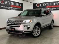 2018 Ford Explorer LIMITED 4WD NAVIGATION SUNROOF REAR CAMERA PARK ASSIST HEATED COOLED LEATHE