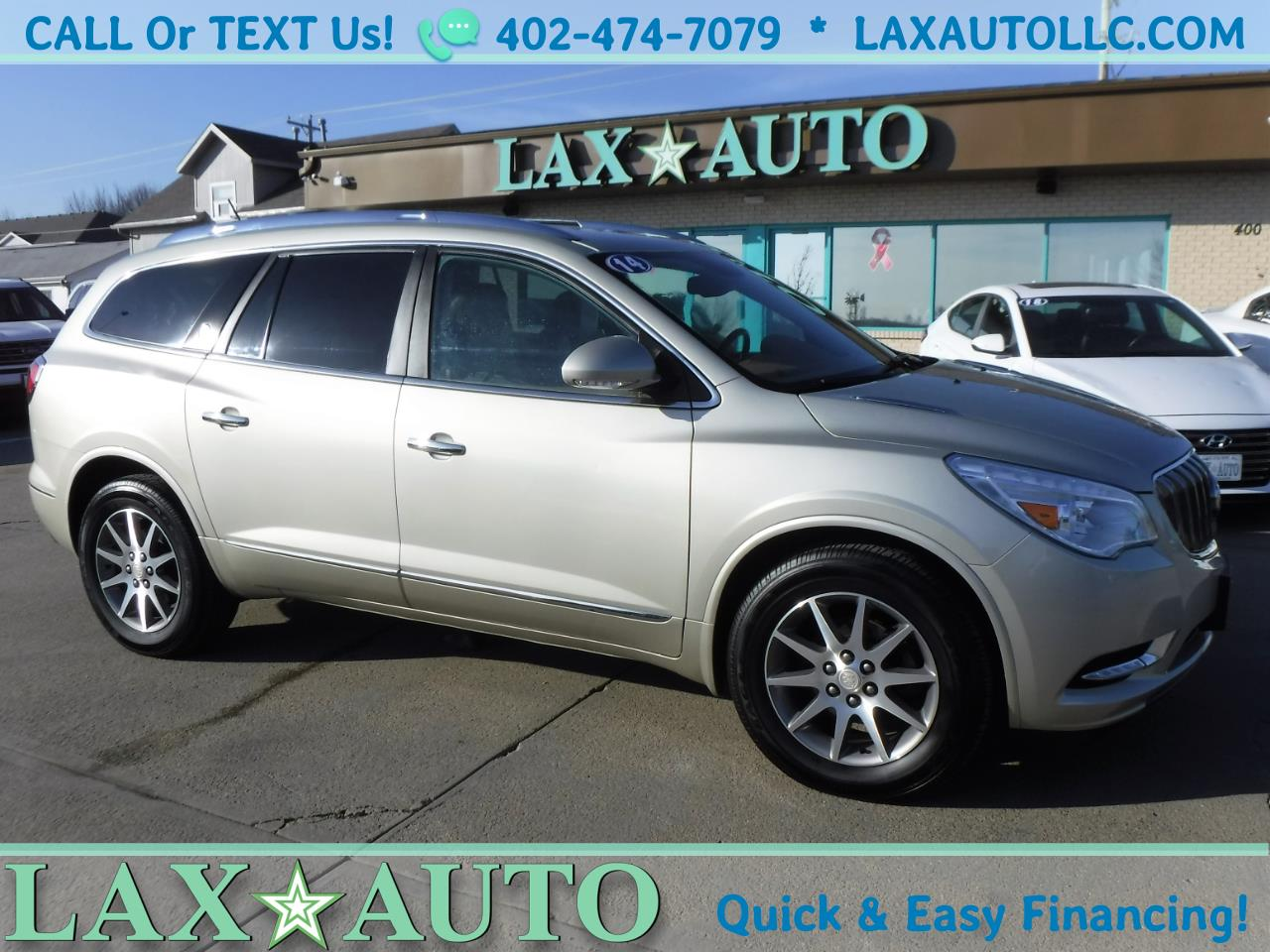 Photo 2014 Buick Enclave Leather AWD w 65k Miles  3rd Row Heated Leather