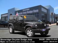 Used 2015 Jeep Wrangler Unlimited Sport 4x4 SUV For Sale in Dublin CA