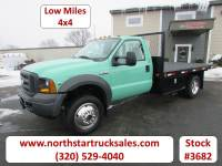 Used 2005 Ford F-550 4x4 Flatbed Truck