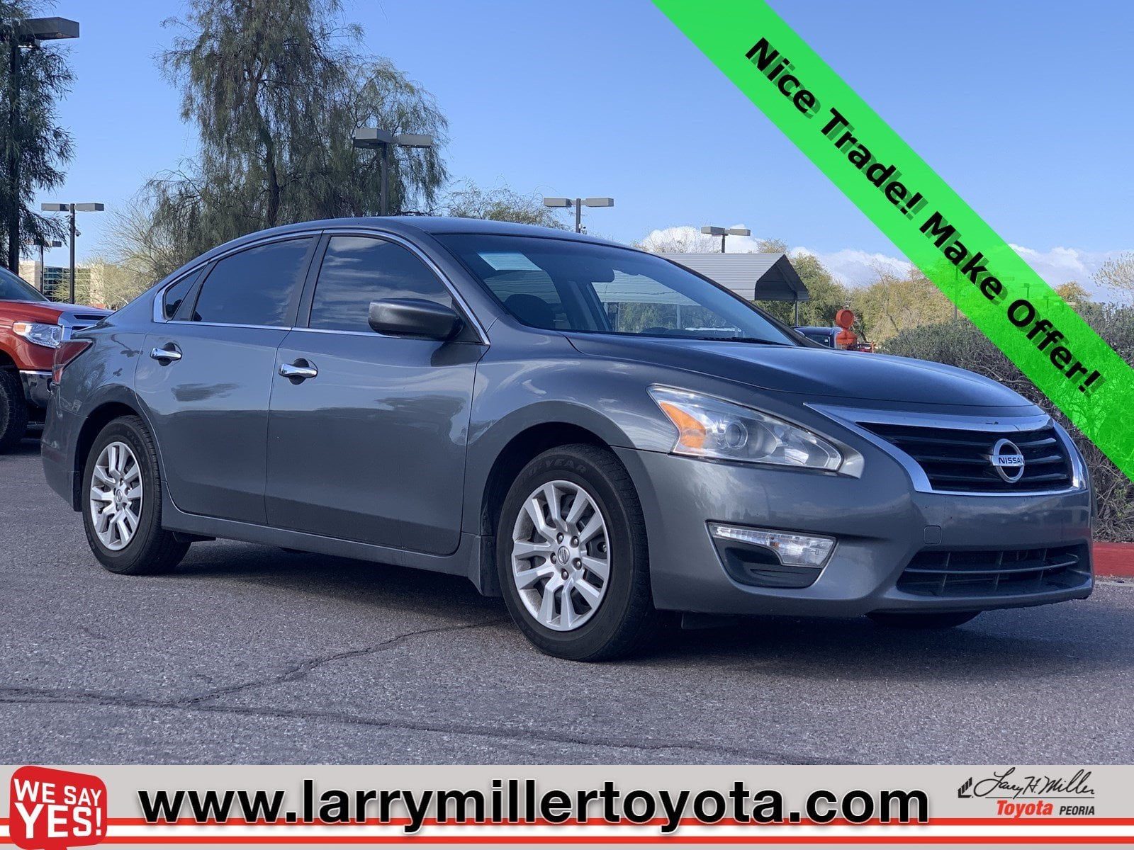 Photo Used 2014 Nissan Altima For Sale  Peoria AZ  Call 602-910-4763 on Stock 90337B