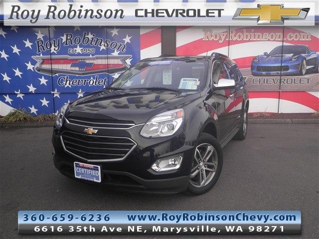 Photo Certified Pre- 2017 Chevrolet Equinox Premier in Marysville, WA