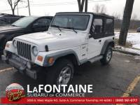 Used 2002 Jeep Wrangler Sport in Commerce Township