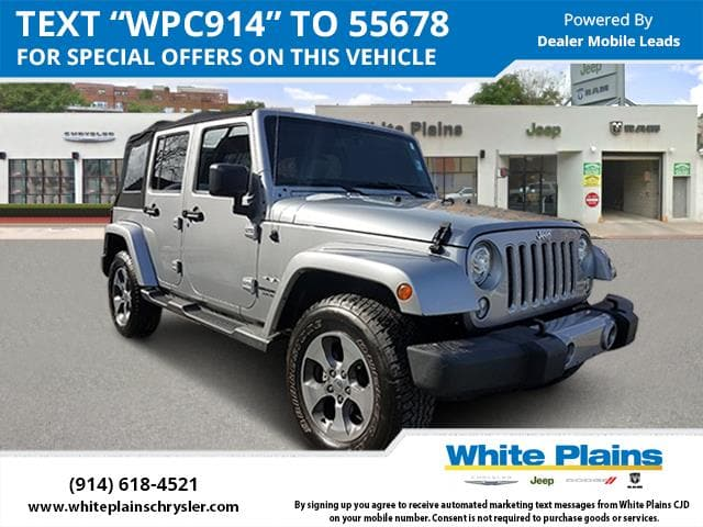 Photo 2017 Jeep Wrangler Unlimited Sahara 4x4 Sport Utility in White Plains, NY