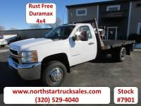 Used 2008 Chevrolet 3500 Duramax 4x4 Flatbed Truck