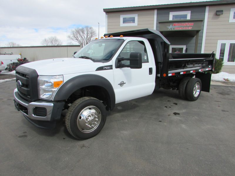 Photo Used 2014 Ford F-550 6.7 New Contractor Dump Truck