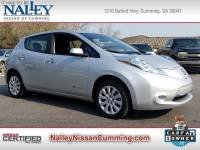 Certified 2017 Nissan LEAF S Hatchback in Cumming GA
