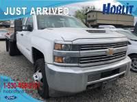 2017 Chevrolet Silverado 3500HD Work Truck Crew Cab 4x4 Duramax w/ Flat Bed!
