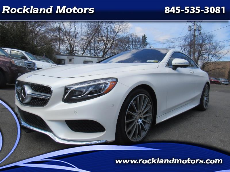 Photo 2015 Mercedes-Benz S-Class S550 Coupe Designo Package 4-Matic