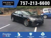 Certified 2016 Honda Civic EX Sedan in Chesapeake, VA