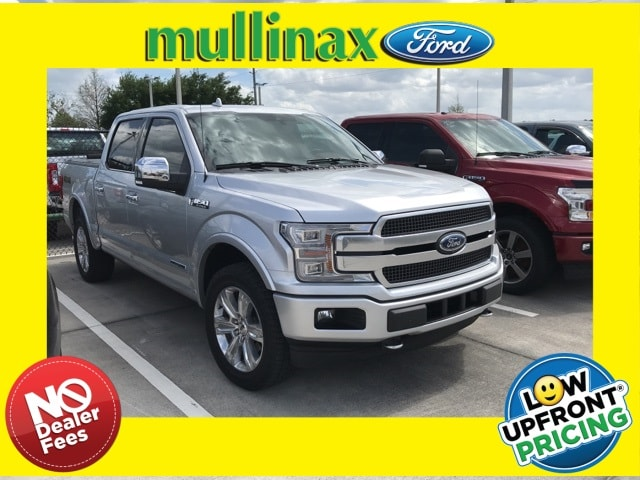 Photo Used 2018 Ford F-150 Platinum Diesel W Tech Package, Twin Panel Moonr Truck SuperCrew Cab V-6 cyl in Kissimmee, FL
