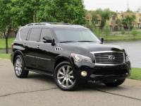 2013 INFINITI QX56 NAVIGATION, ALL AROUND CAMERAS, HEATED SEATS, DUAL REAR DVDS, CAPTAIN CHAIRS